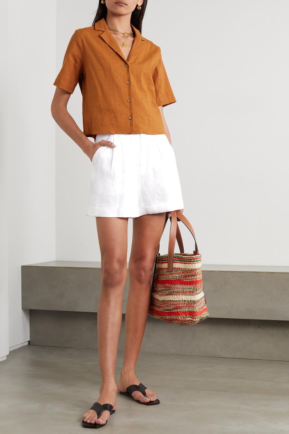 EQUIPMENT Short en lin à plis Boyde