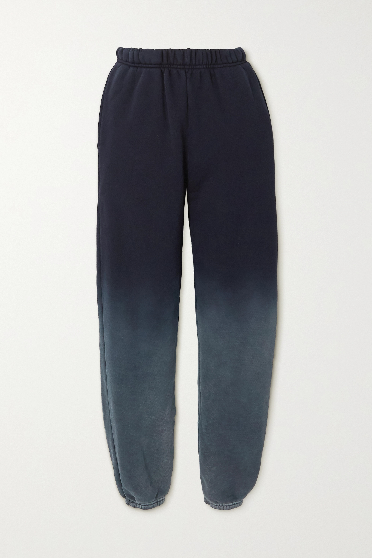 Les Tien 渐变色纯棉平纹布休闲裤
