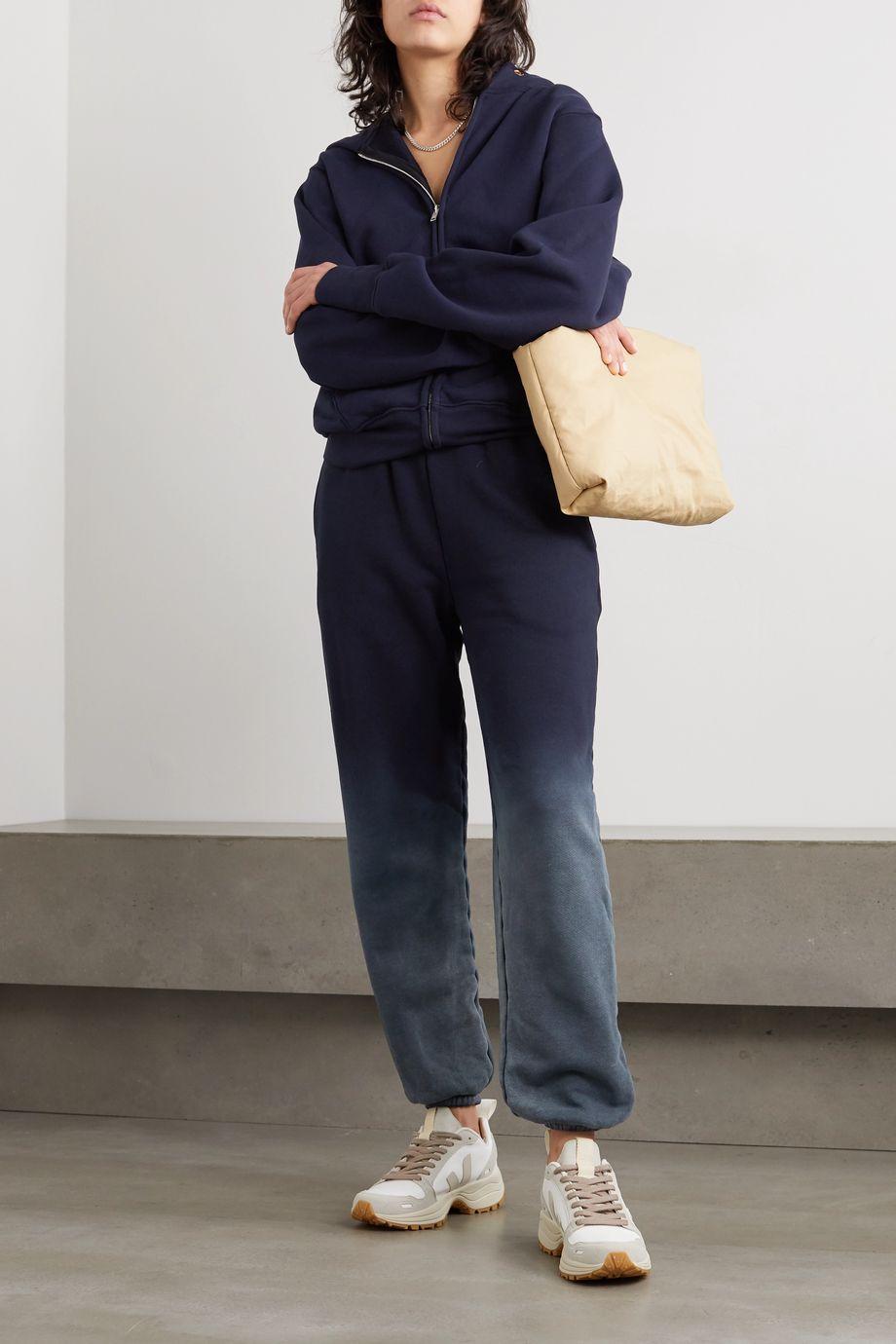 Les Tien Ombré cotton-jersey track pants
