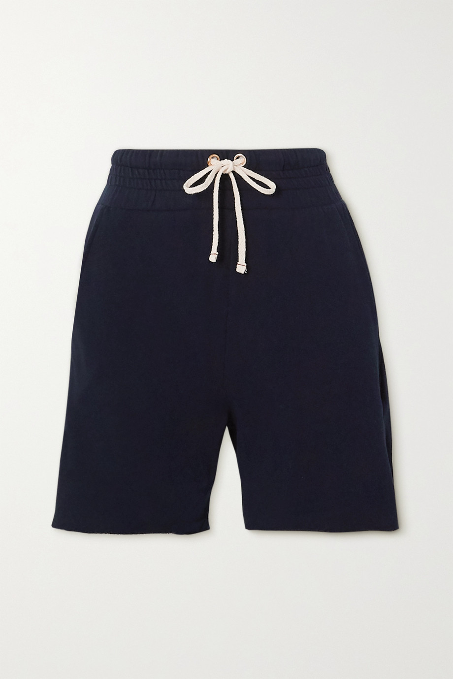 Les Tien Yacht frayed cotton-jersey shorts