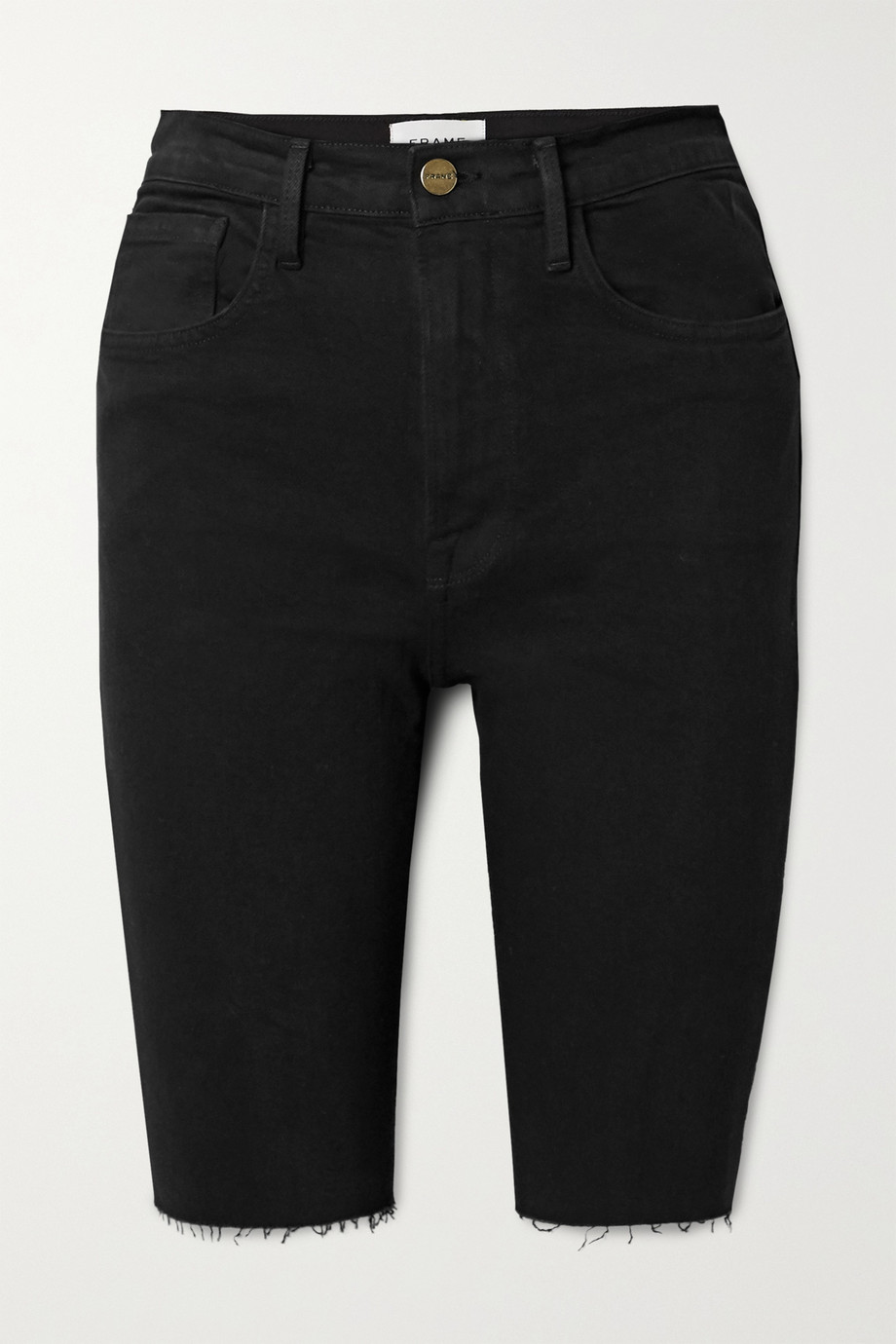 FRAME Le Vintage Bermuda 毛边牛仔短裤