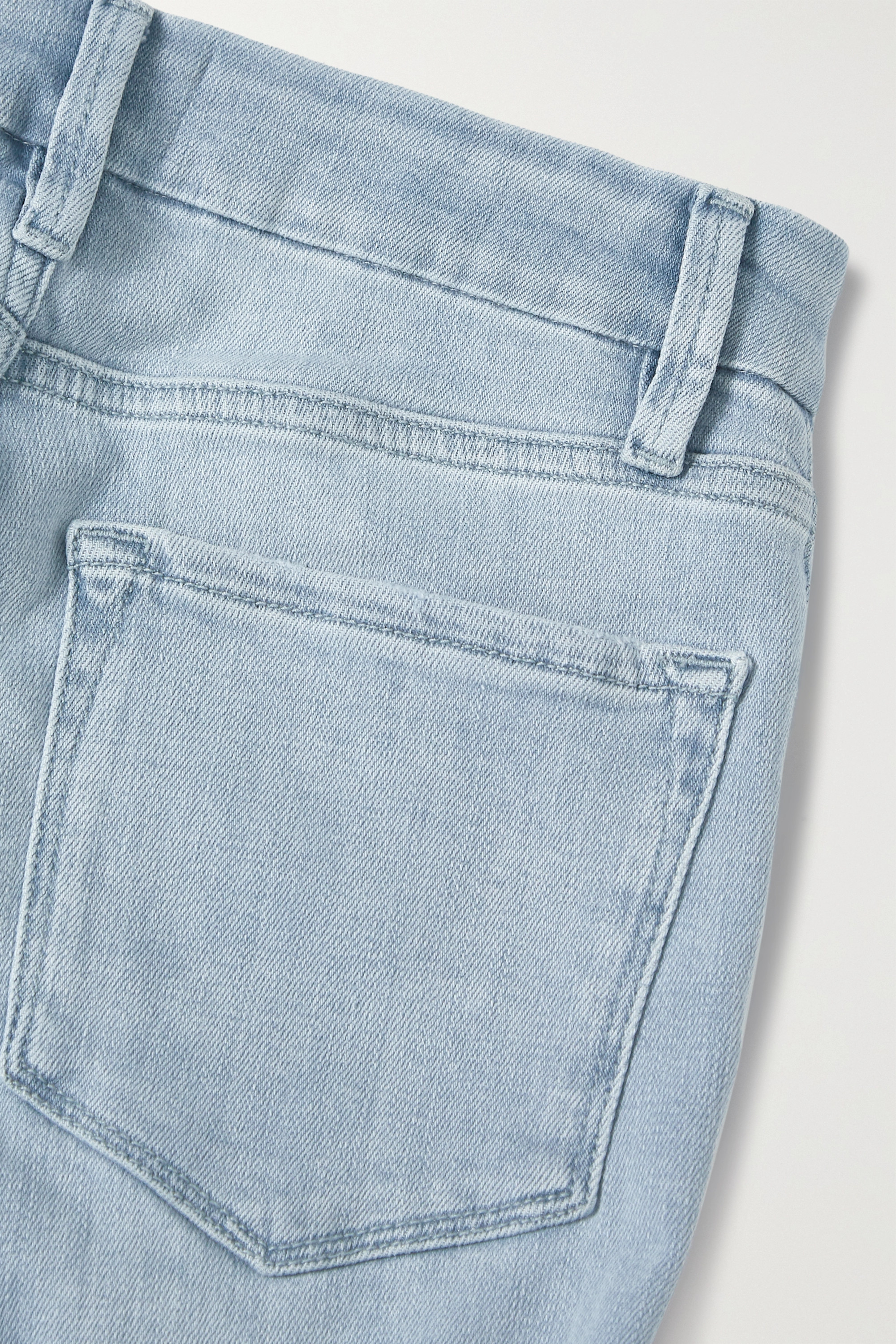 Light Denim Le Pixie Cropped High-rise Bootcut Jeans | Frame