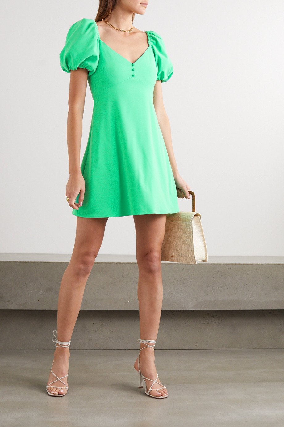 Alice + Olivia Dana crepe mini dress