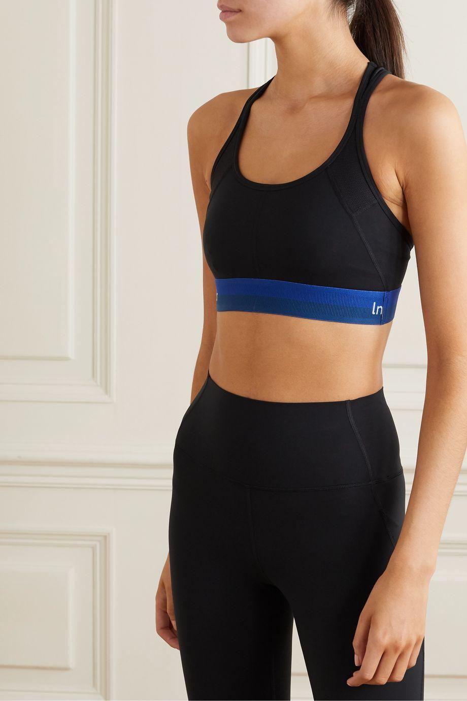 LNDR Workout mesh-paneled stretch sports bra