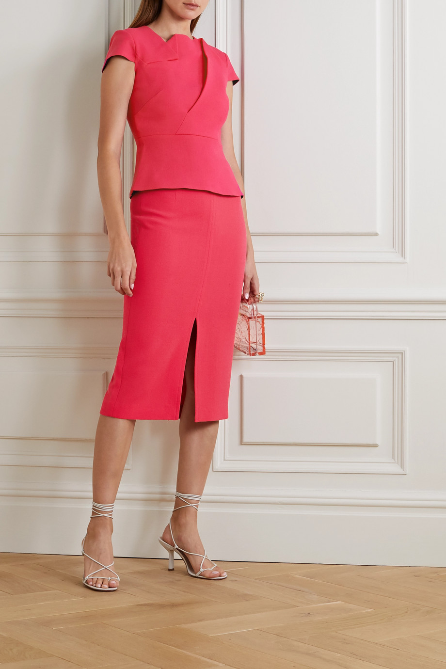 Roland Mouret Moka wool-crepe pencil skirt