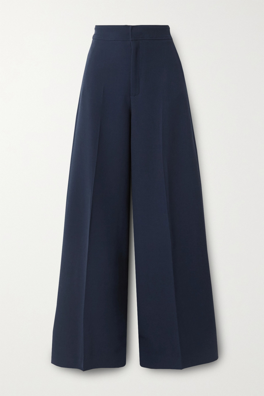 Roland Mouret Merlon pleated wool-crepe wide-leg pants