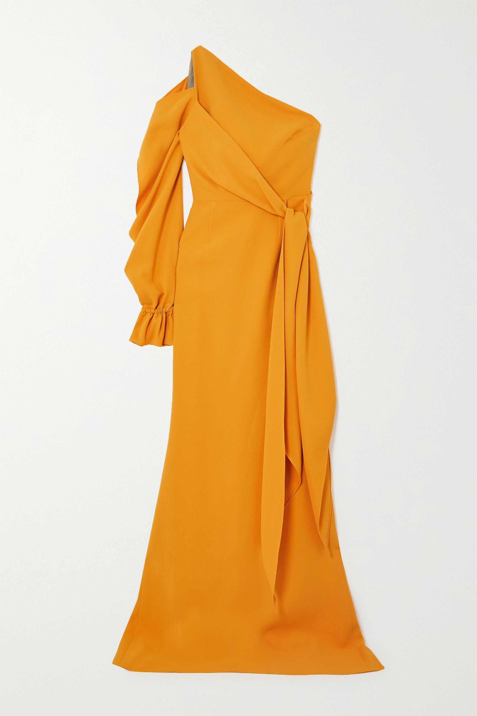 Roland Mouret Santorini one-sleeve asymmetric crepe gown