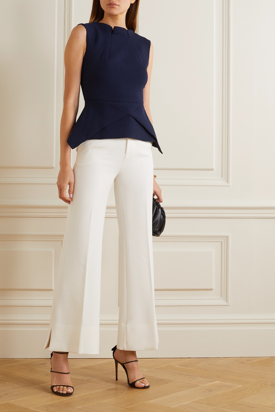 Roland Mouret Dilman stretch-crepe flared pants