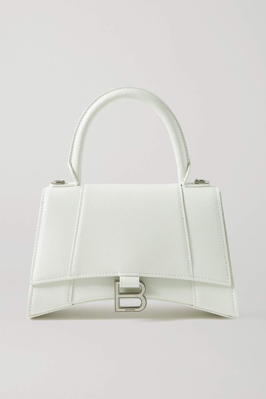 Balenciaga Hourglass small textured-leather tote