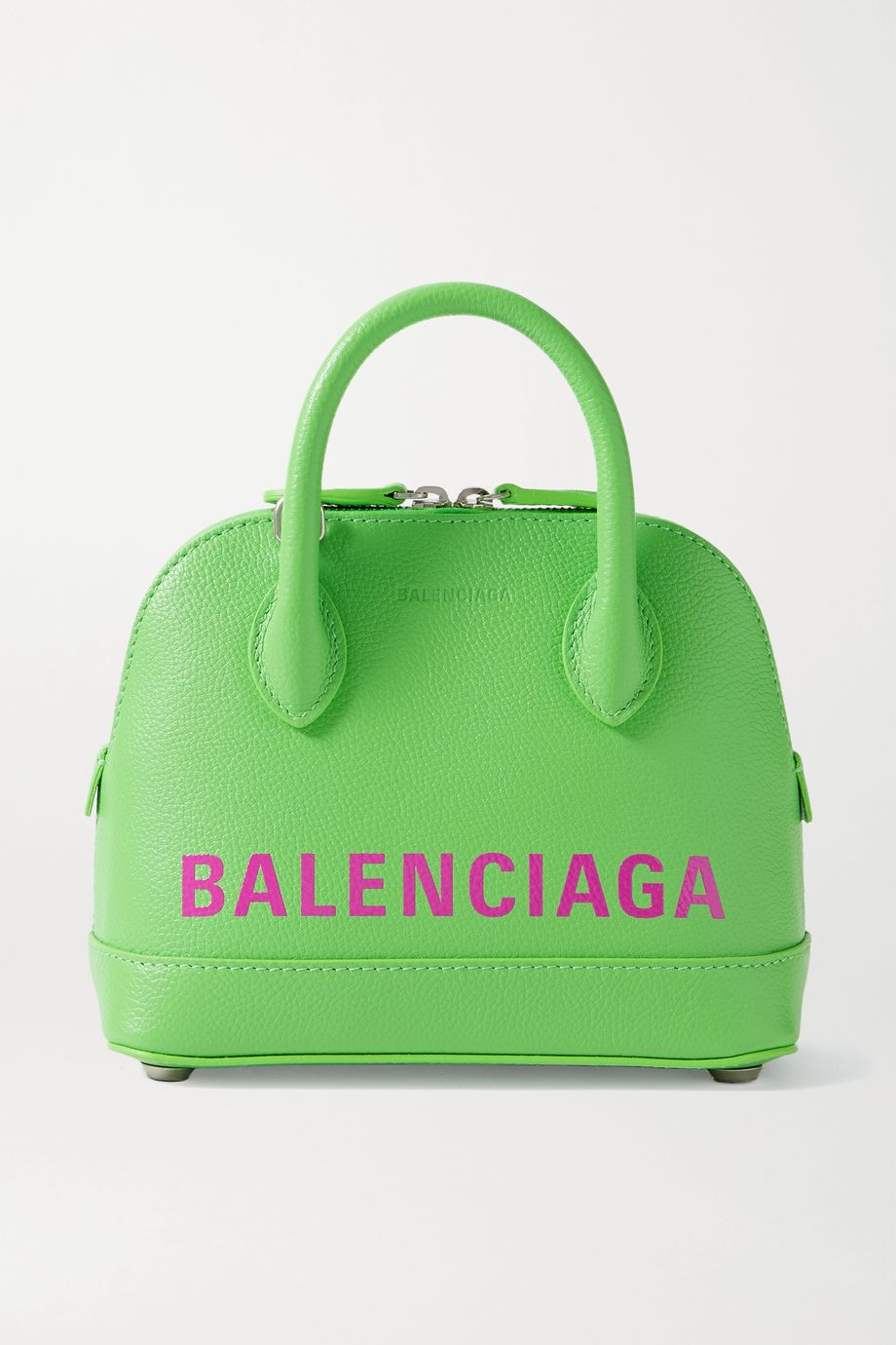 Balenciaga Ville XXS Tote aus strukturiertem Leder mit Print