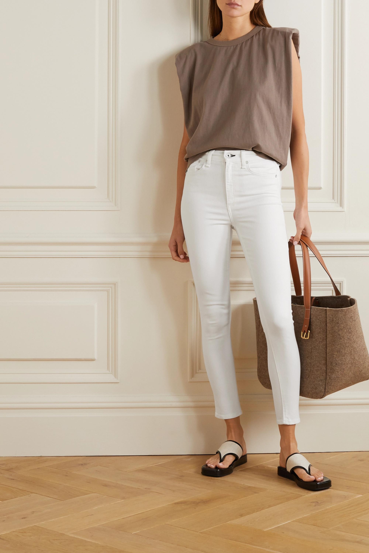 rag & bone Nina verkürzte, hoch sitzende Skinny Jeans