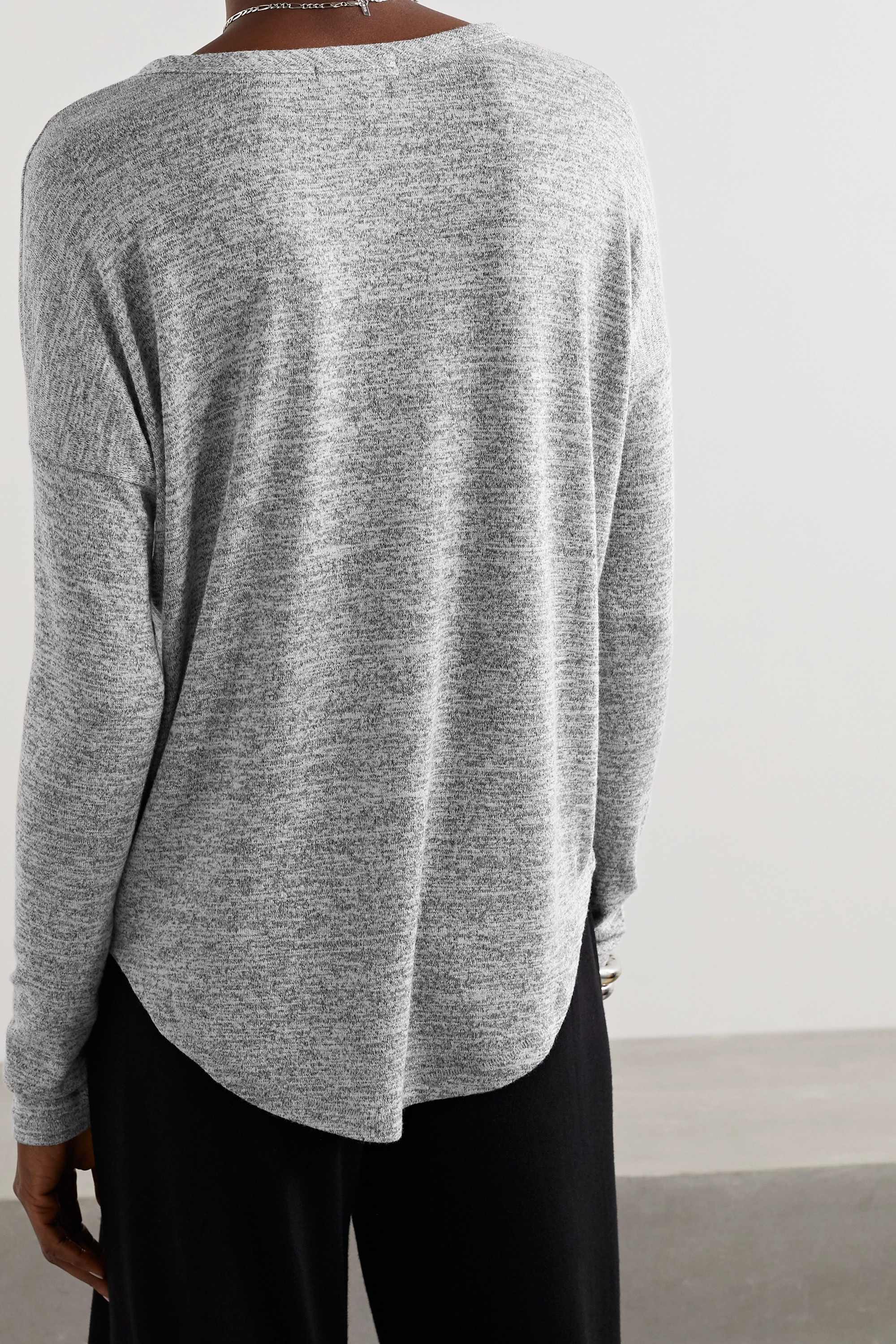 rag & bone Hudson mélange stretch-jersey top