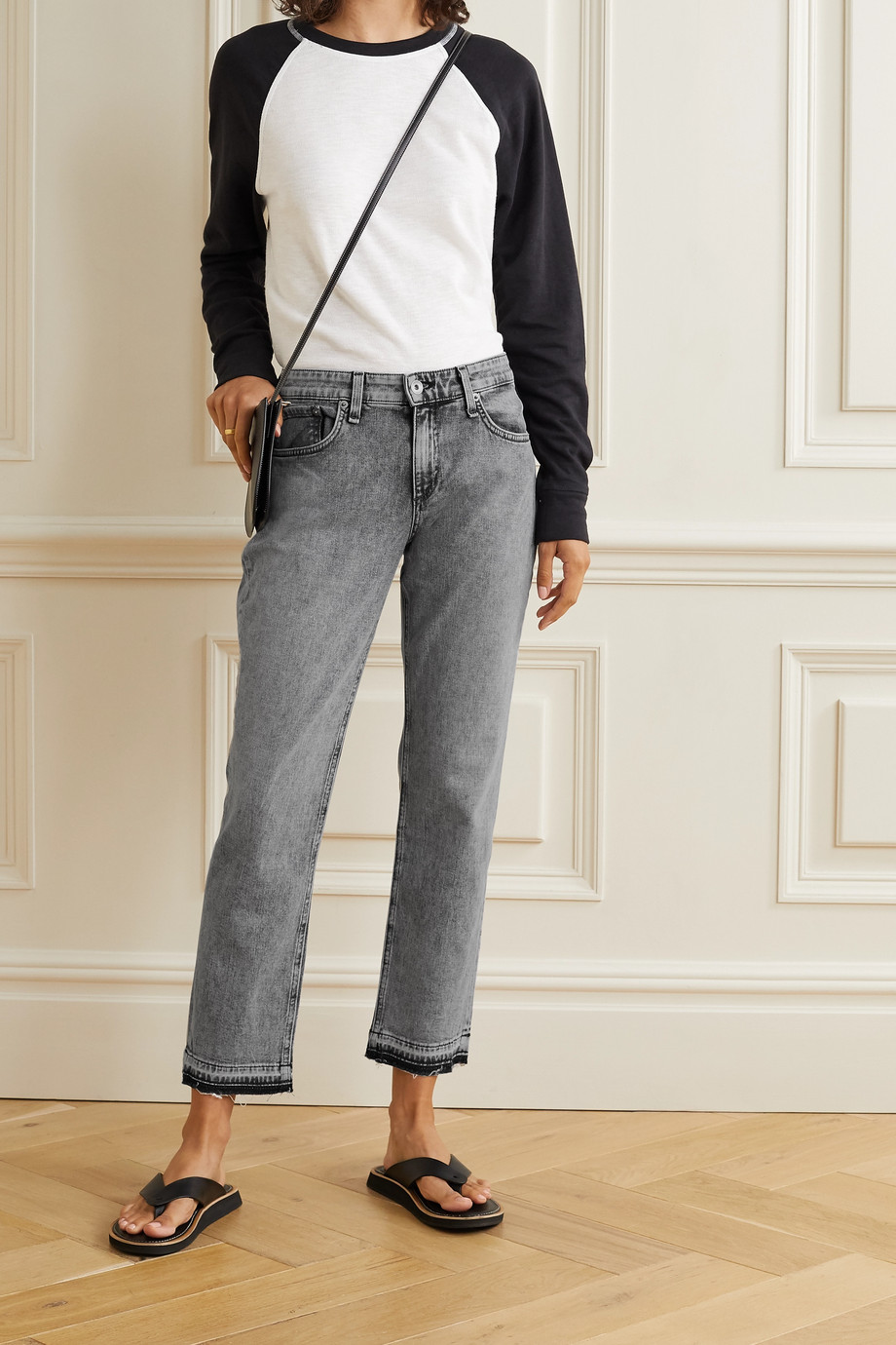 rag & bone Dre Boyfriend-Jeans in Distressed-Optik