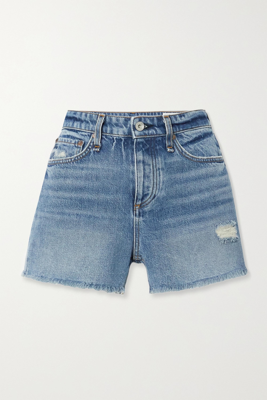 rag & bone Dre distressed denim shorts