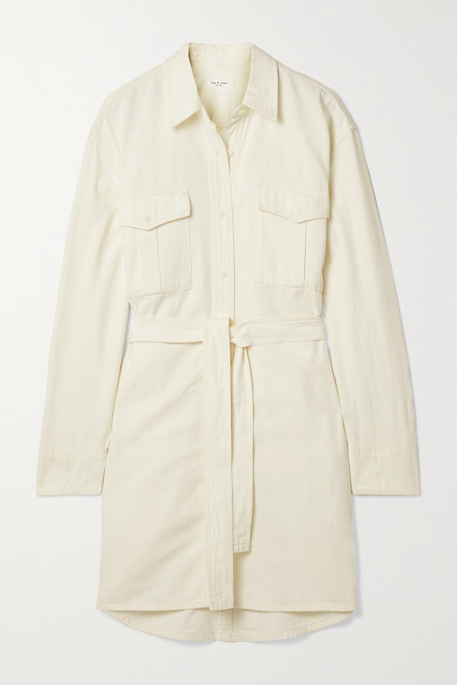 rag & bone Robe-chemise en jean à ceinture
