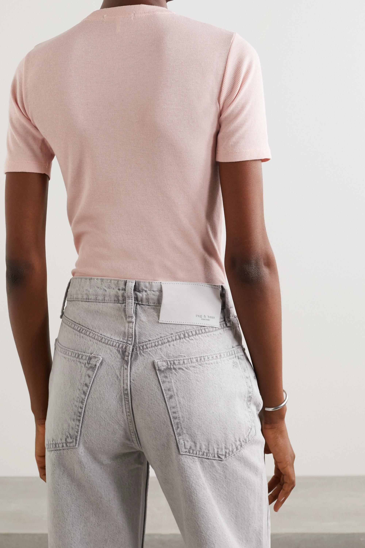 rag & bone T-Shirt aus einer gerippten Baumwoll-Modalmischung