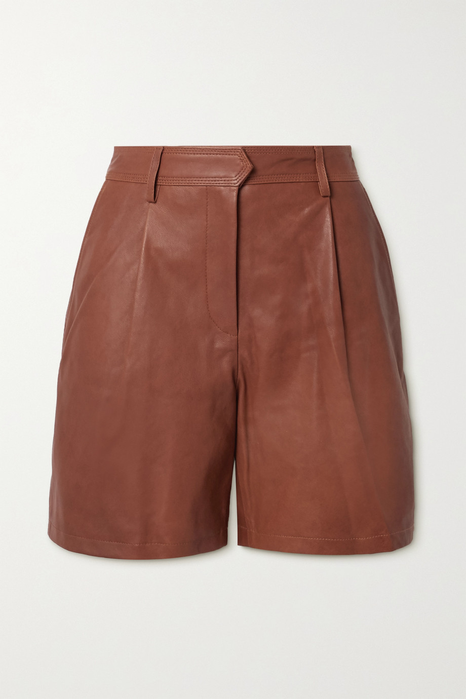 rag & bone Short en cuir à plis Ivy