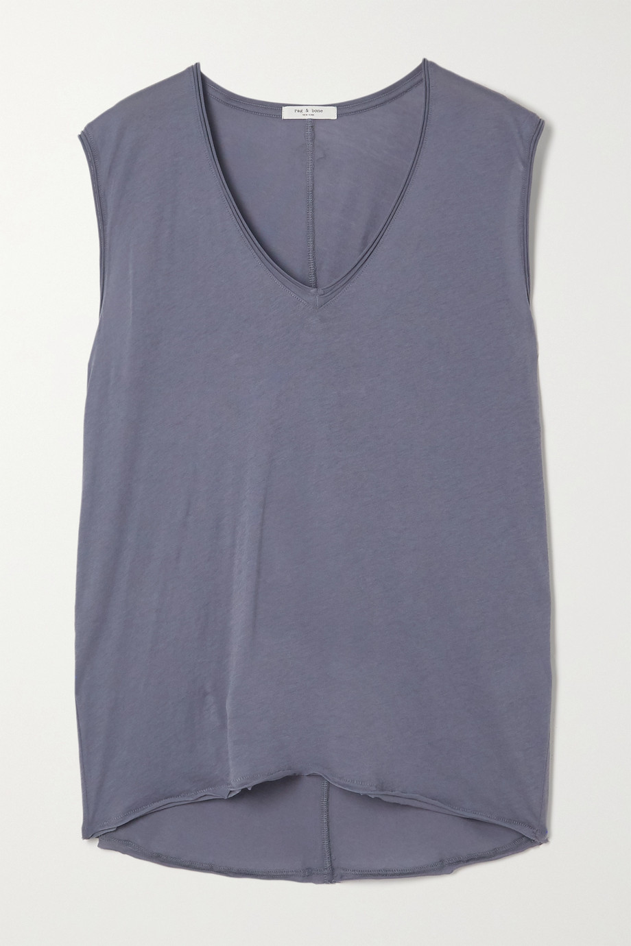 랙앤본 Rag & Bone The Gaia organic Pima cotton-jersey tank,Blue
