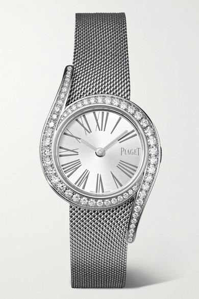 Piaget Watches LIMELIGHT GALA 26MM 18-KARAT WHITE GOLD AND DIAMOND WATCH