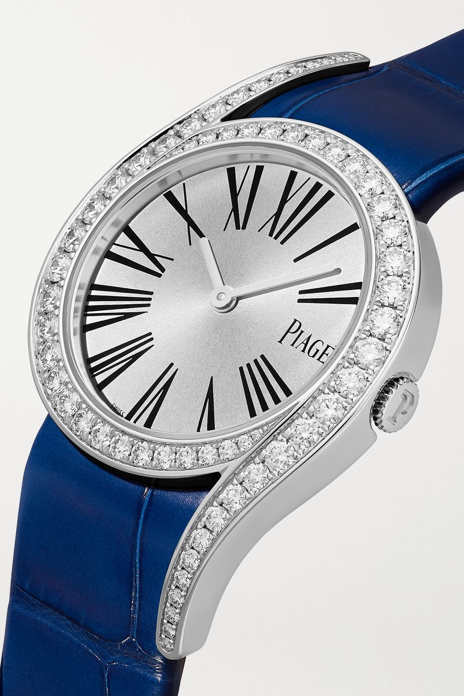 Piaget Limelight Gala 32mm 18-karat white gold, alligator and diamond watch