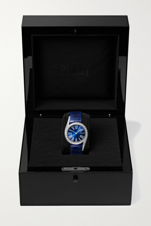 Piaget Montre en or blanc 18 carats et diamants à bracelet en alligator Limelight Gala 32 mm