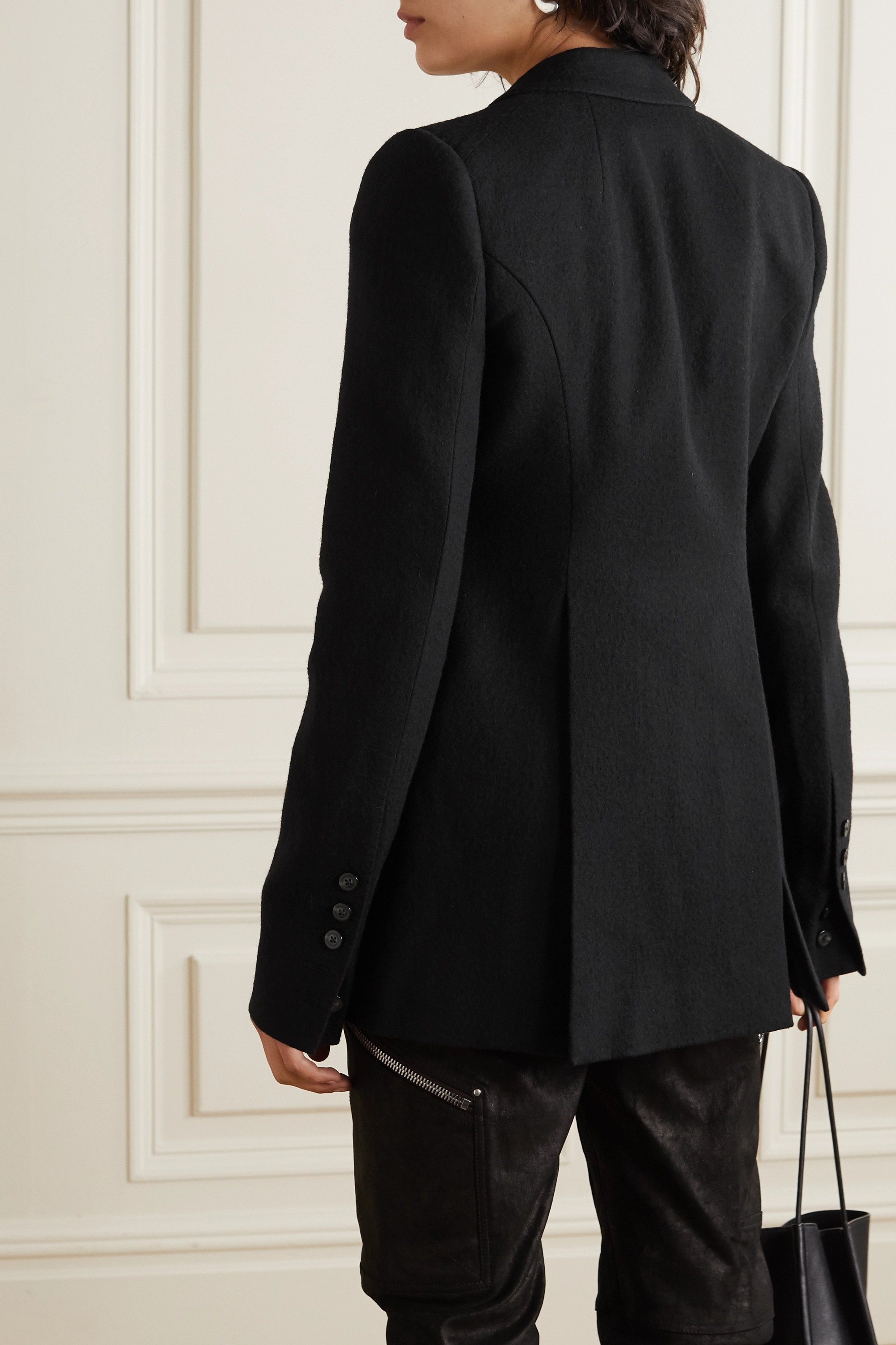 Rick Owens Giacca cotton and wool-blend blazer