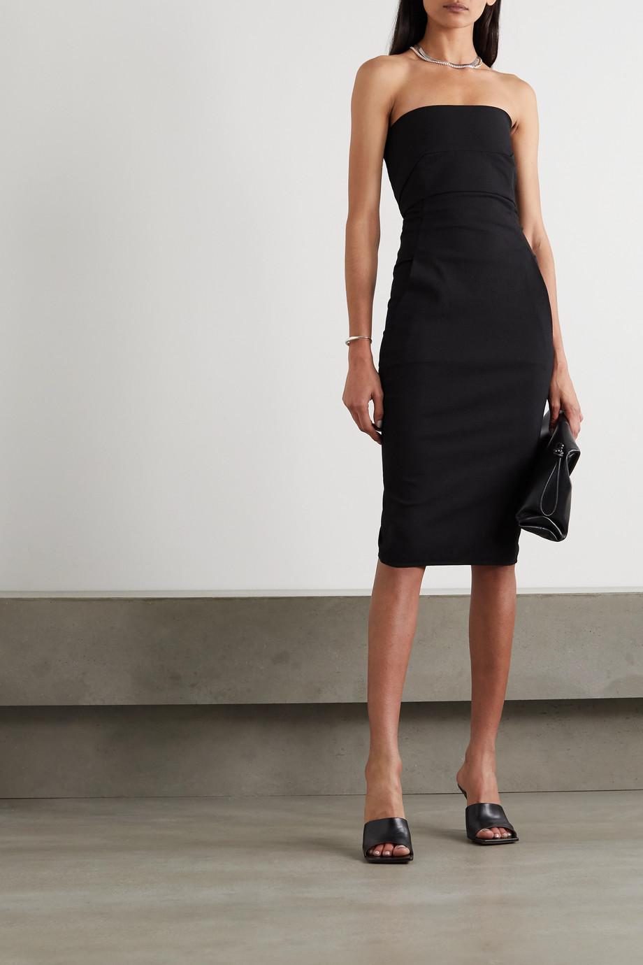 Rick Owens Strapless cotton-blend crepe dress