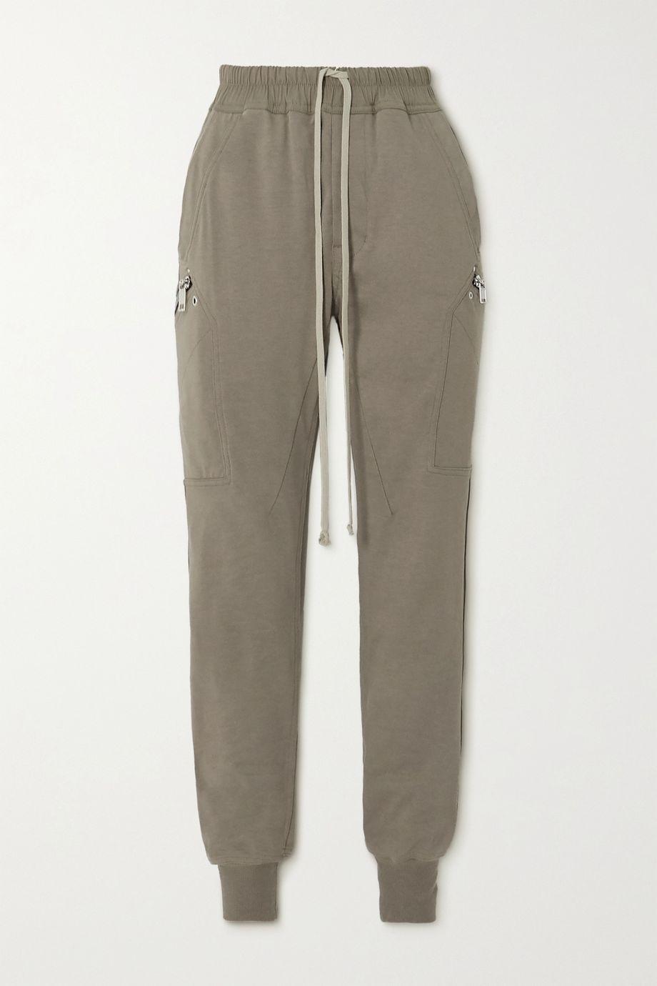 Rick Owens Stretch-cotton jersey track pants