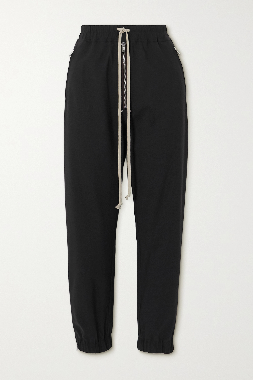 Rick Owens Zip-embellished woven track pants