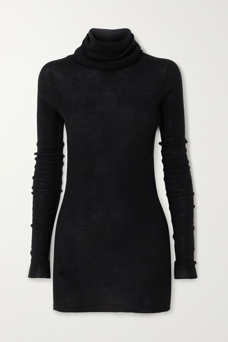 Rick Owens Ribbed wool turtleneck sweater