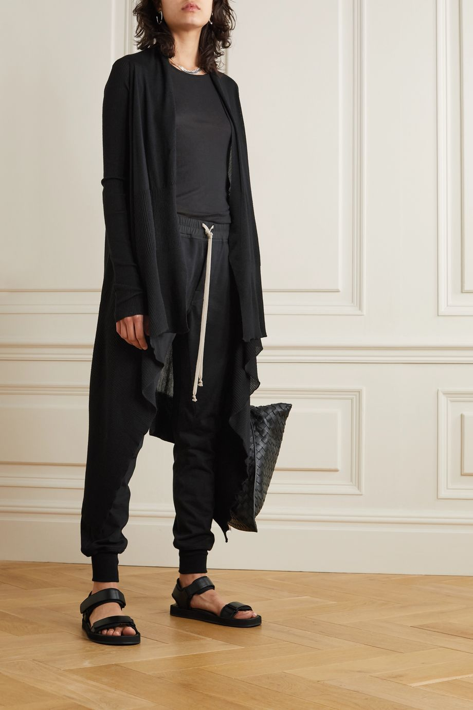 Rick Owens Draped wool cardigan