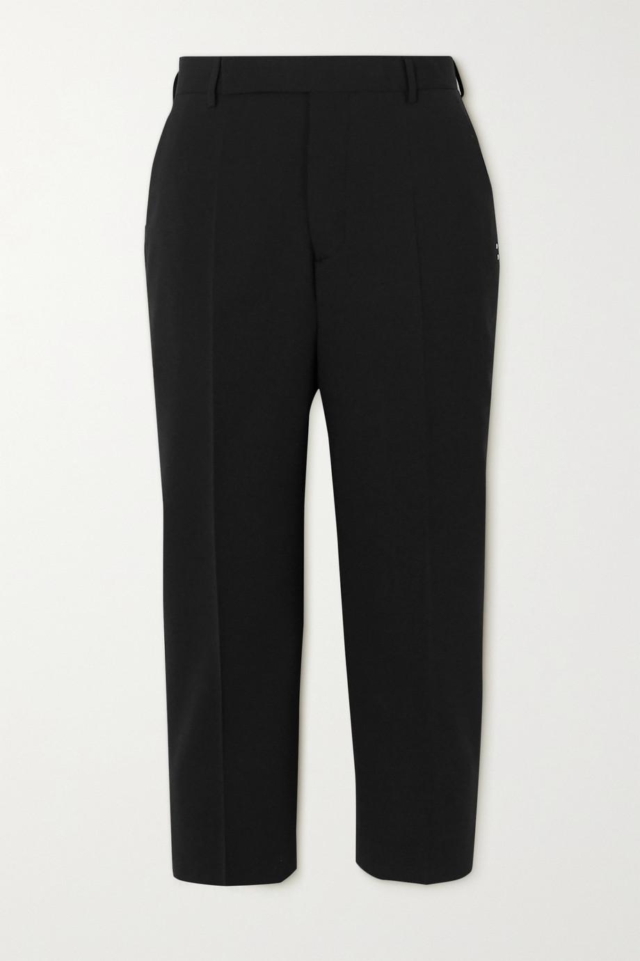 Rick Owens Cropped crepe slim-fit pants