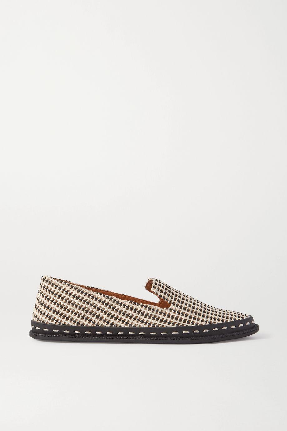 rag & bone Cairo striped leather espadrilles