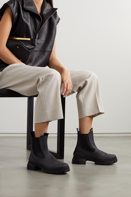 Black Rubber Chelsea boots | GANNI