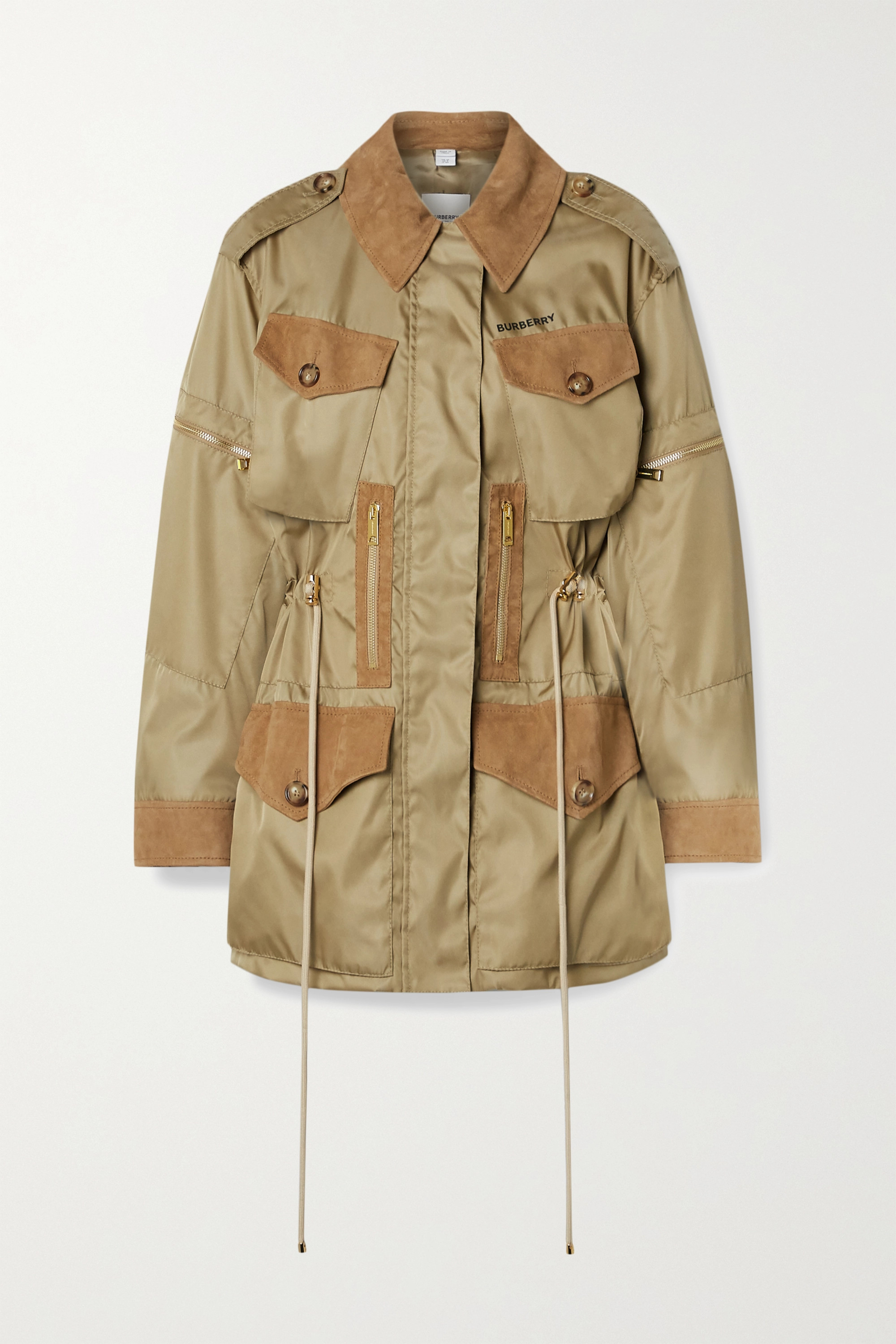 Burberry + Space for Giants suede-trimmed nylon jacket