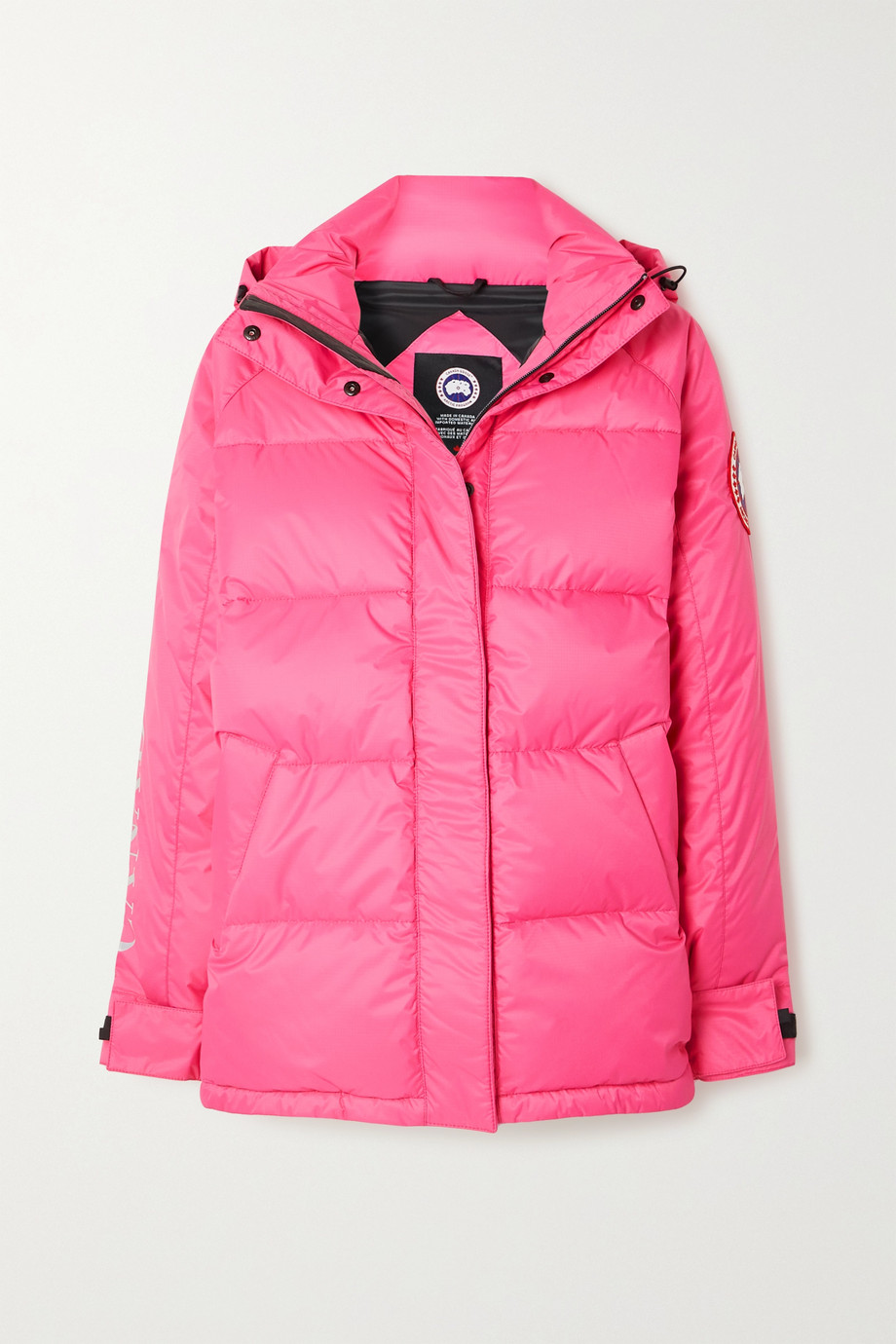 Canada Goose Approach hooded printed quilted shell down jacket