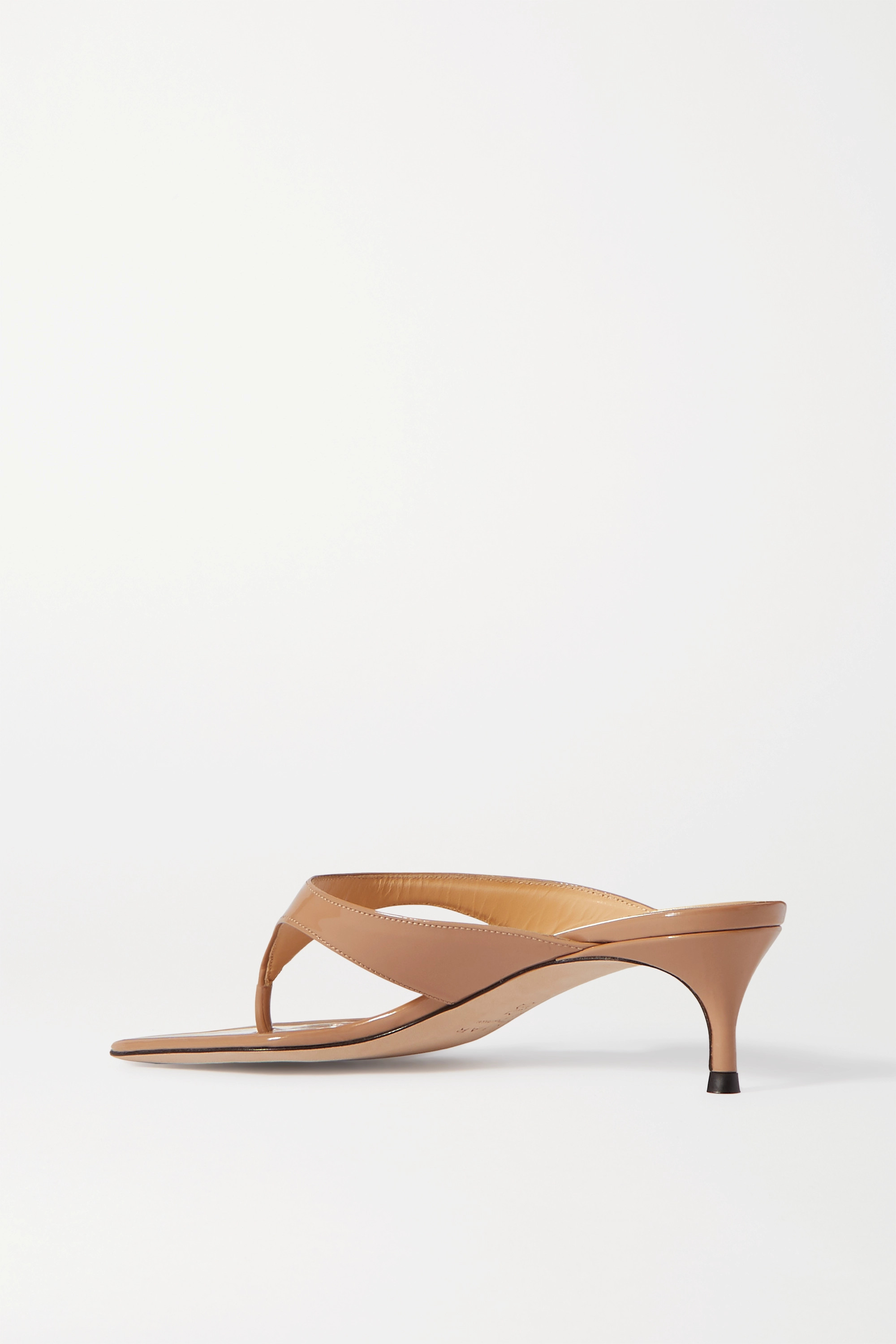 BY FAR Jackie patent-leather sandals