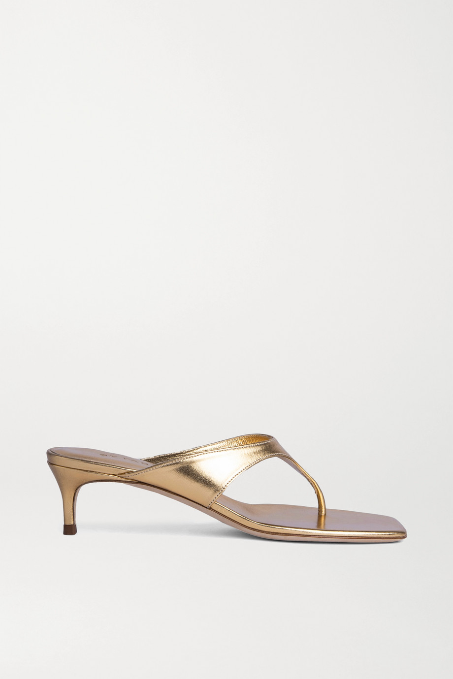 BY FAR Jackie metallic leather sandals