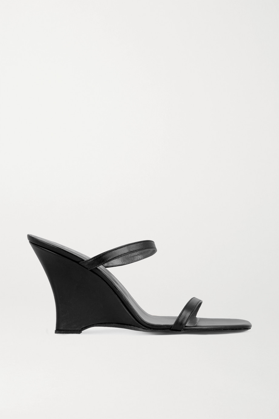 BY FAR Steffi leather wedge mules