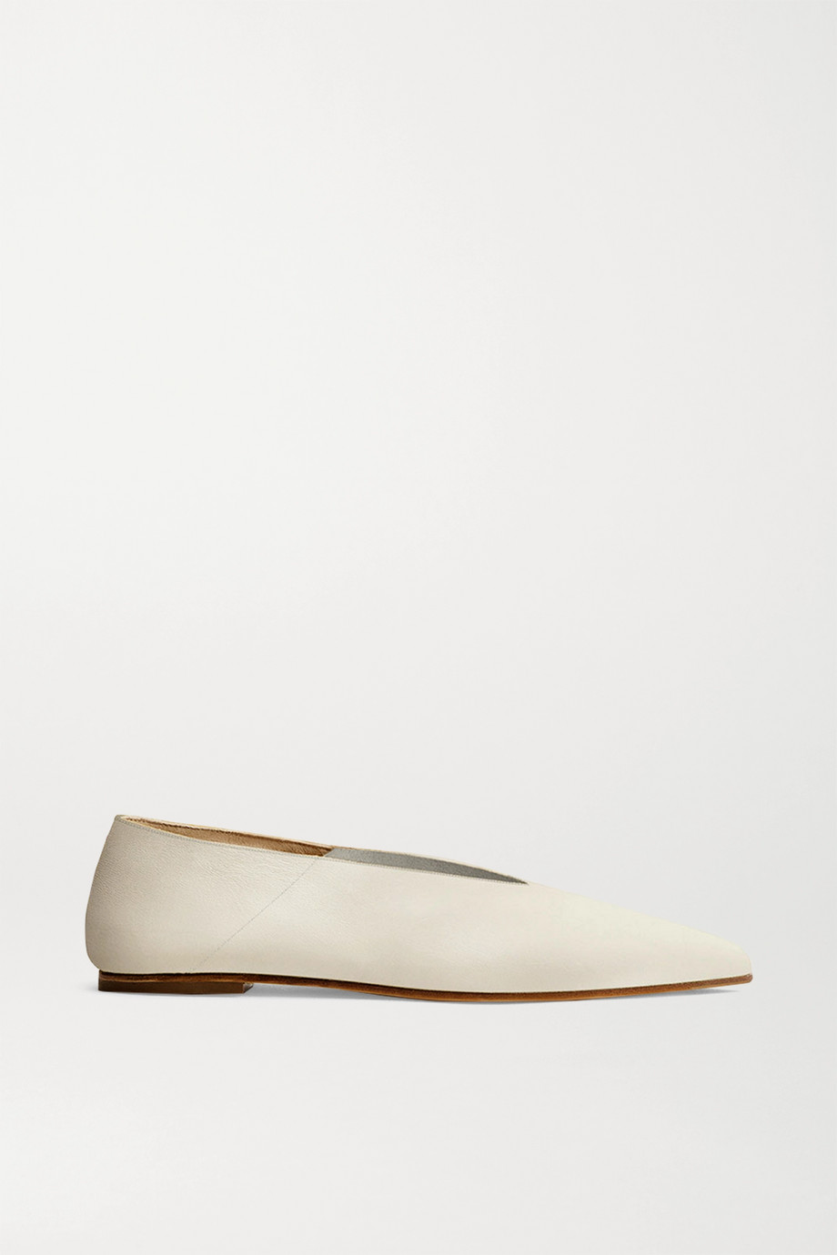 aeyde Moa leather point-toe flats
