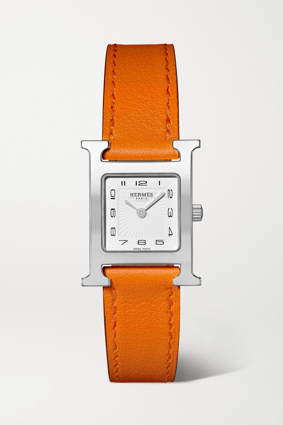 Hermès Timepieces Heure H 21mm small stainless steel and leather watch