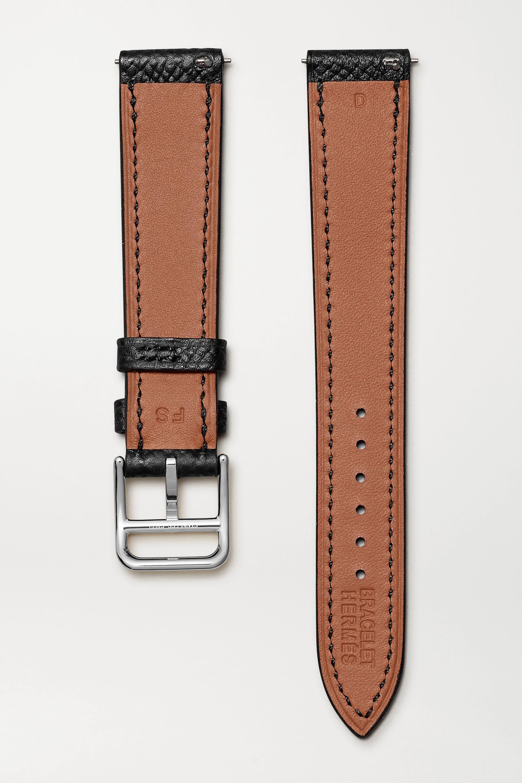 Hermès Timepieces Heure H Double Jeu 21 毫米纹理皮革表带