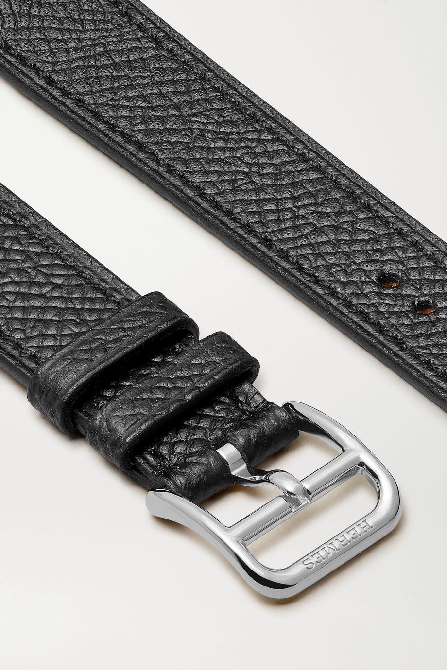 Hermès Timepieces Heure H Double Jeu 21mm textured-leather watch strap