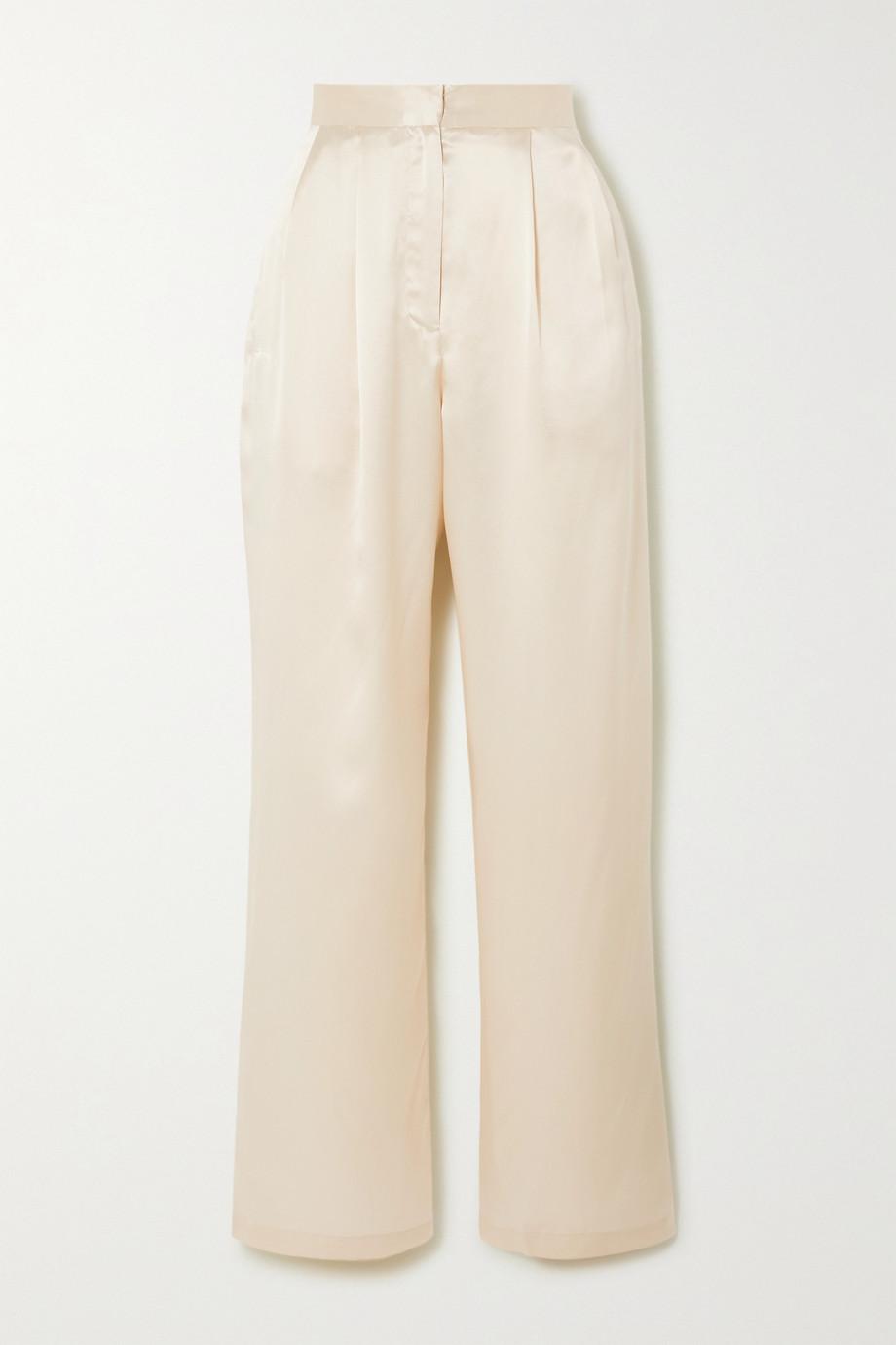 Reformation Pantalon large en charmeuse de soie Chandler - NET SUSTAIN
