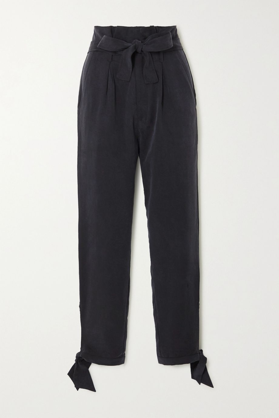 Reformation + NET SUSTAIN Avalon tie-detailed Tencel tapered pants