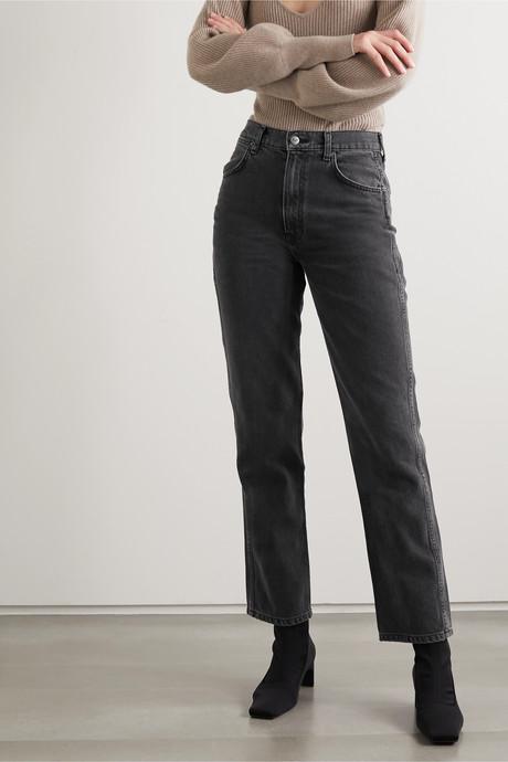 Star high-rise straight-leg jeans