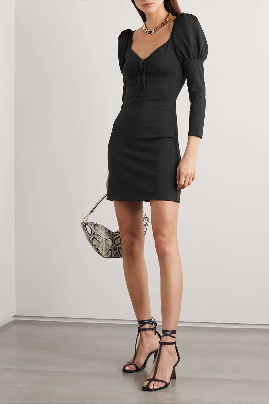 Reformation + NET SUSTAIN Helga bow-detailed stretch-Micro Modal mini dress