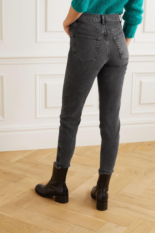 Reformation + NET SUSTAIN high-rise slim-leg jeans