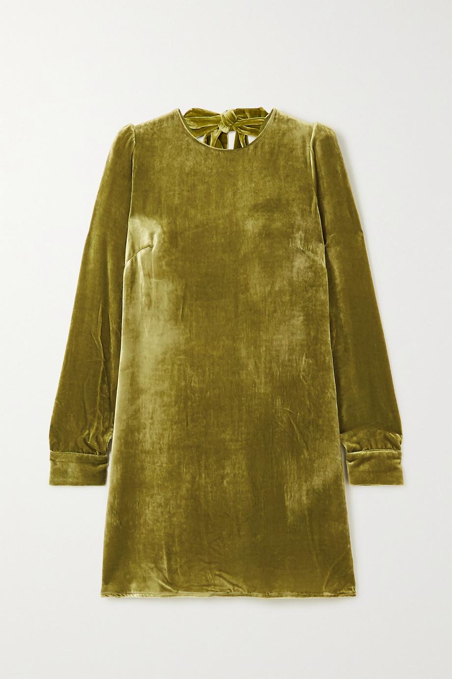 Reformation Mini-robe dos ouvert en velours Kyra - NET SUSTAIN