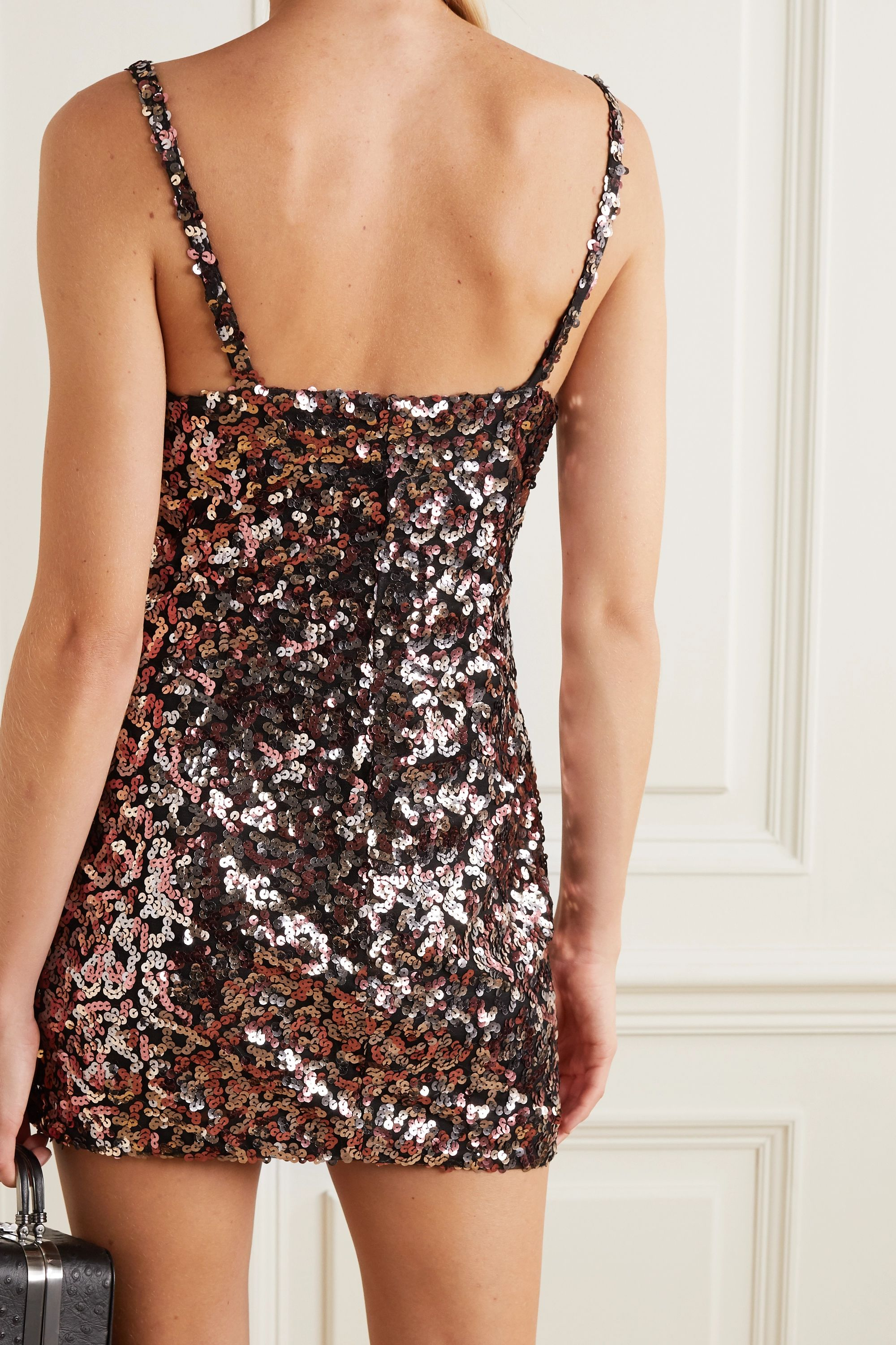 Reformation + NET SUSTAIN Jimmy sequined tulle mini dress